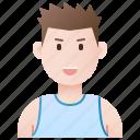 aerobics, fitness, gym, male, trainer icon