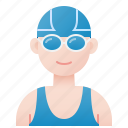 aquathlon, athlete, competition, swimmer, triathlon icon