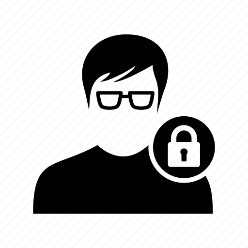 client, lock, male, secure, secure profile, security, user icon