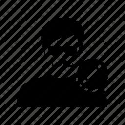 avatar, client, edit, man, mustache, pencil, user icon