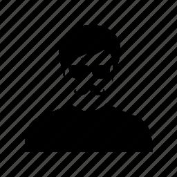 business, client, man, mustache, person, profile, user icon