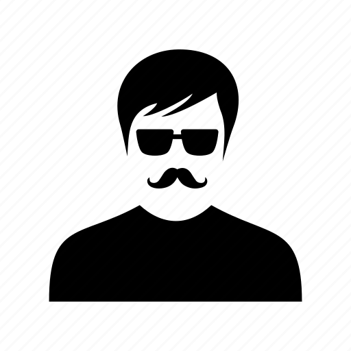 business, client, man, mustache, person, profile, user icon