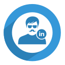 linked in, linkedin, male, network, professional, social, user icon