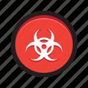 button, malware, hazard, biohazard, malicious, infection