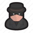 spy, spyware, detective, agent, surveillance, security icon