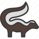 animal, mephitidae, skunk, stink icon