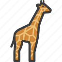 african, animal, giraffe icon