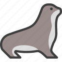 animal, marine, pinniped, seal icon
