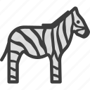 african, horse, striped, zebra icon