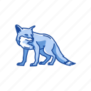 animal, canine, fox, kit fox, mammal, red fox, reynard icon