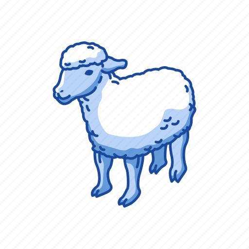 animals, domestic animal, lamb, mammal, ovis, sheep icon