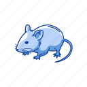 animals, barn mouse, mammal, mouse, pet, rat, rodent icon