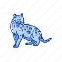 animal, bobcat, canine, mammal, ocelot, wild cat icon