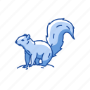 animals, chipmunk, mammal, marmot, squirrel, tree squirrel icon