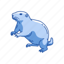 animal, dog mouse, mammal, mouse, prairie dog, squirrel icon