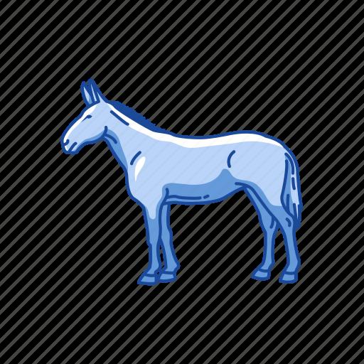 animal, donkey, horse, mammal, mule, warmbloods icon