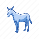 animals, donkey, horse, mammal, mule icon