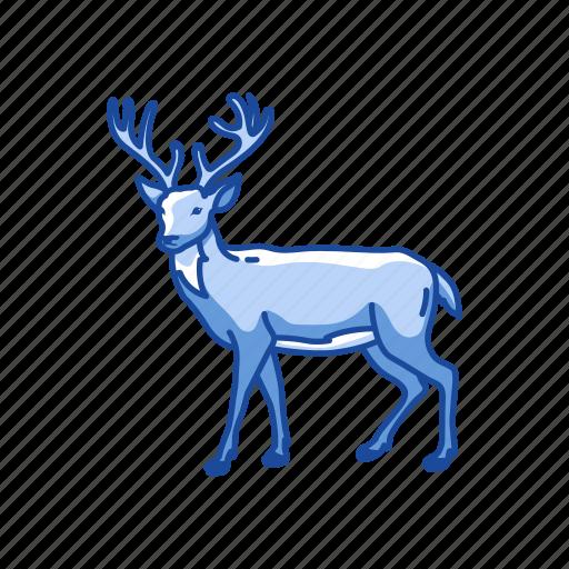 animal, buck, cheetal, chital, deer, mammal icon