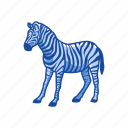 animals, cayote, gray wolf, mammal, plains zebra, quagga, zebra icon