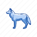 animals, canine, coywolf, gray wolf, mammal, timber wolk, wolf icon