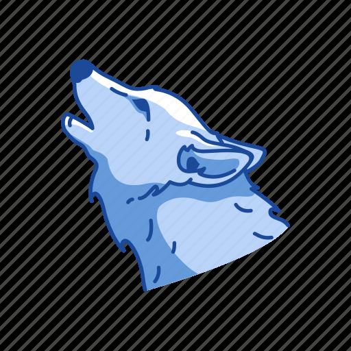 animals, cayote, gray wolf, howling wolf, mammal, wolf icon