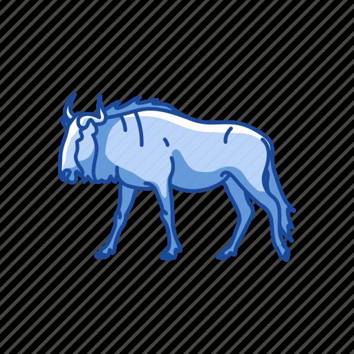 animals, antelopes, brindled gnus, gnus, mammal, wild beest icon