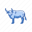 animals, bull, bullock, cattle, draft animals, mammal, ox icon