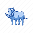 animals, dessert warthog, mammals, pig, warthog, wild animal icon