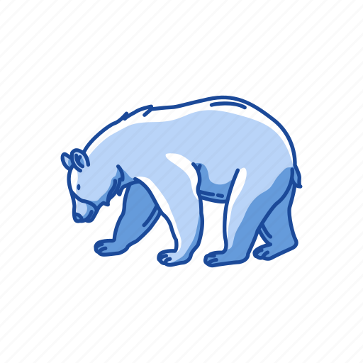 american black bear, animal, bear, black bear, mammal, wild bear icon