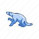 animals, hapalops, mammals, marine sloth, sloth, two-toed sloth icon