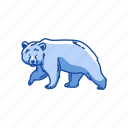 american black bear, animal, bear, black bear, kodiak bear, mammal icon