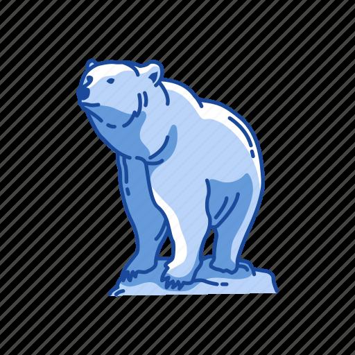 animal, bear, brown bear, kodiak bear, kodiak brown bear, mammal icon