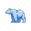 animal, bear, mammal, polar bear, white bear icon