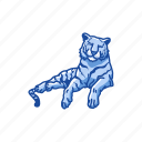 animal, cat, feline, mammal, panther, tiger icon