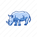 animal, mammal, megafauna, nose-horned, rhino, rhinoceros