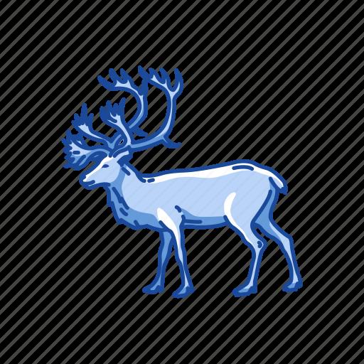 animal, antler, caribou, deer, mammal, reindeer icon