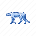 animal, cat, cheetah, feline, mammal, rosette, wild cat icon
