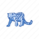 animals, panther, feline, leopard, rosette, big cat, mammal icon