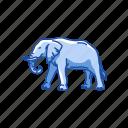 animal, elephant, elephant tusk, large mammal, mammal, marsupial icon