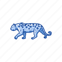 animals, big cat, feline, leopard, mammal, panther, rosette icon
