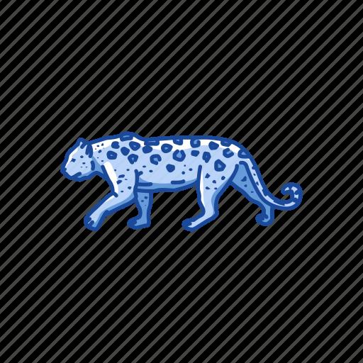 animals, big cat, feline, leopard, mammal, panther, rosette icon