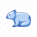 animal, herbivores, mammal, pouch mammal, rodent, wombat icon