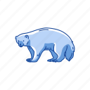 animal, carcajou, gulo gulo, mammal, skunk bear, wolverine icon