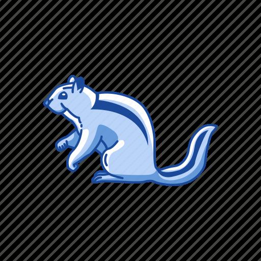 animal, chipmunk, mammal, rodent, squirrel, striped rodent icon