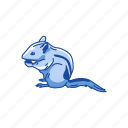 animals, chipmunk, mammal, rodent, squirrel, striped rodent icon