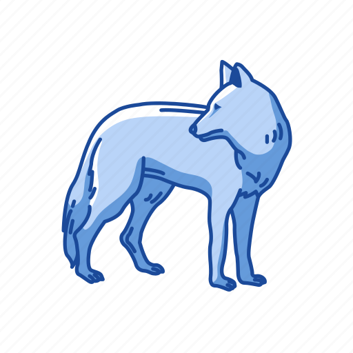 animals, brush wolf, canine, coyote, gray coyote, mammal, wolf icon