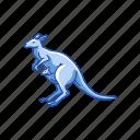 animals, joey, kangaroo, kanggaru, mammal, wallaby icon