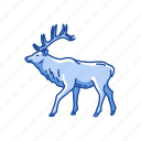 animal, deer, elk, mammal, moose, wapiti icon