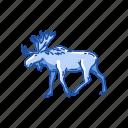 animal, antlers, buck, elk, mammal, wapiti icon