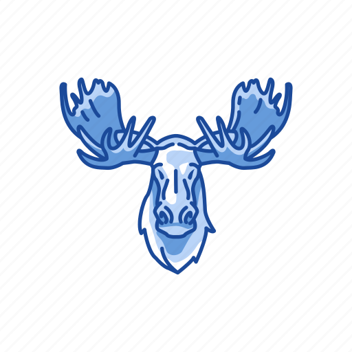 Animal, antlers, elk, mammal, moose, moose head, solitary animal icon - Download on Iconfinder